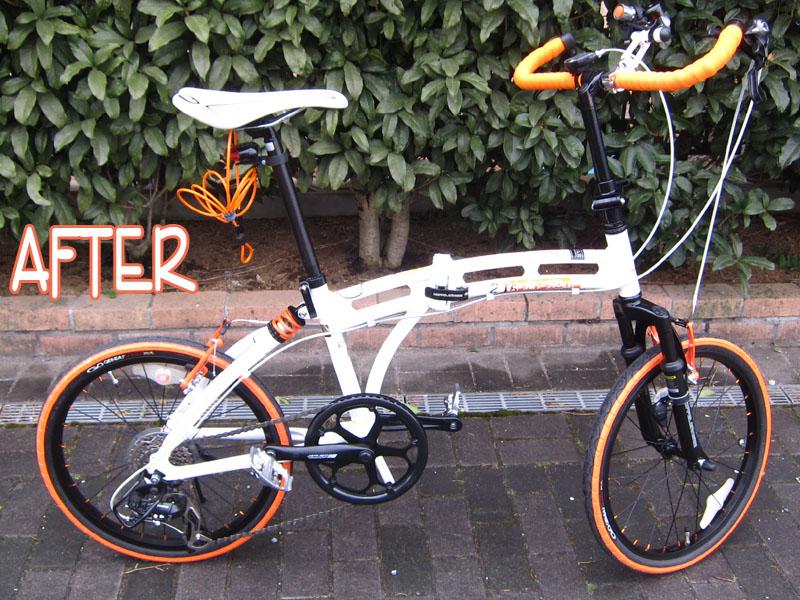 折りたたみ自転車「ドッペルギャンガー 215」を改造してみた