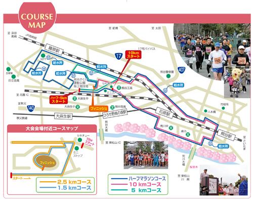 第21回熊谷さくらマラソンの申し込み受付中