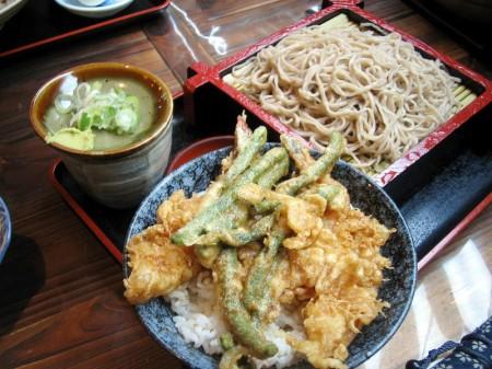 熊谷市太井「和食処 澤」の海老天丼セット