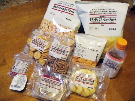 埼玉県熊谷市筑波3丁目ティアラ21内「無印良品」のお菓子