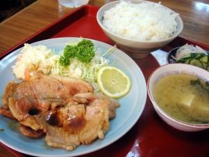 熊谷市星川1丁目「幸楽食堂」のしょうが焼き定食