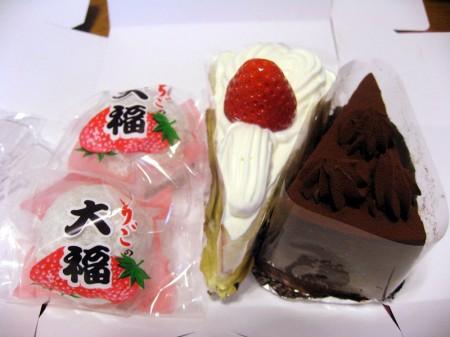 深谷市上野台「カトレーヌ」のケーキといちご大福