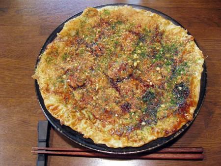 熊谷市仲町「慈げん」の舞茸天温玉ぶっかけうどんと肉フライ
