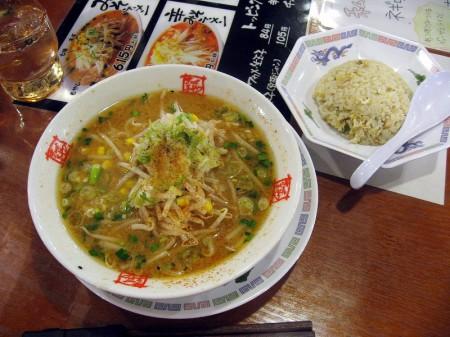熊谷市新堀「おおぎやラーメン」の味噌ラーメン(ニンニク生絞り付き)