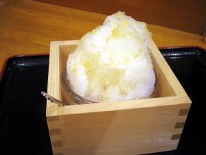 熊谷市月見町2丁目「湯楽の里」の雪くま