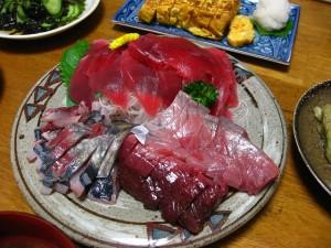 熊谷市新堀新田マミーマート内「角上魚類」のおさかな