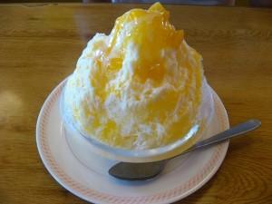 ファミリーレストラン「ジョイフル」のマンゴーカキ氷