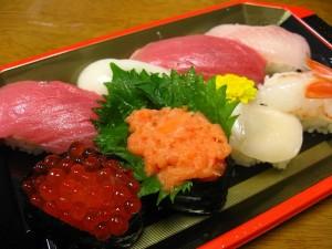 熊谷市新堀新田マミーマート内「角上魚類」のお寿司