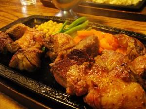 熊谷市佐谷田「レストラン高原」の20ドルステーキ