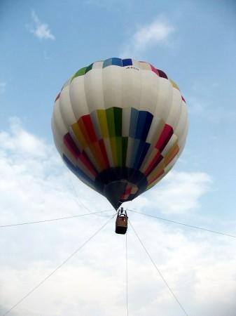 熊谷スポーツ文化公園「わくわくスポ文まつり」の熱気球搭乗体験