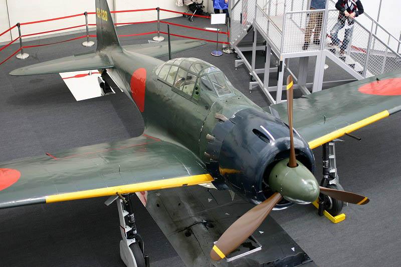 所沢市並木1丁目「所沢航空発祥記念館」の唯一現存する飛行可能な零戦
