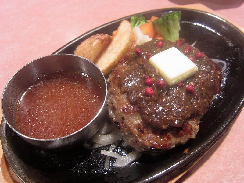 熊谷市見晴町「ビッグボーイ」のペッパーバターハンバーグ