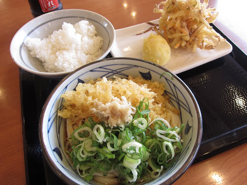 深谷市常磐町「丸亀製麺」でオリジナル天丼を作ろう
