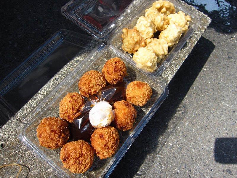 桐生市錦町2丁目「山作精肉店」のふくふくギョウザと肉ダンゴ