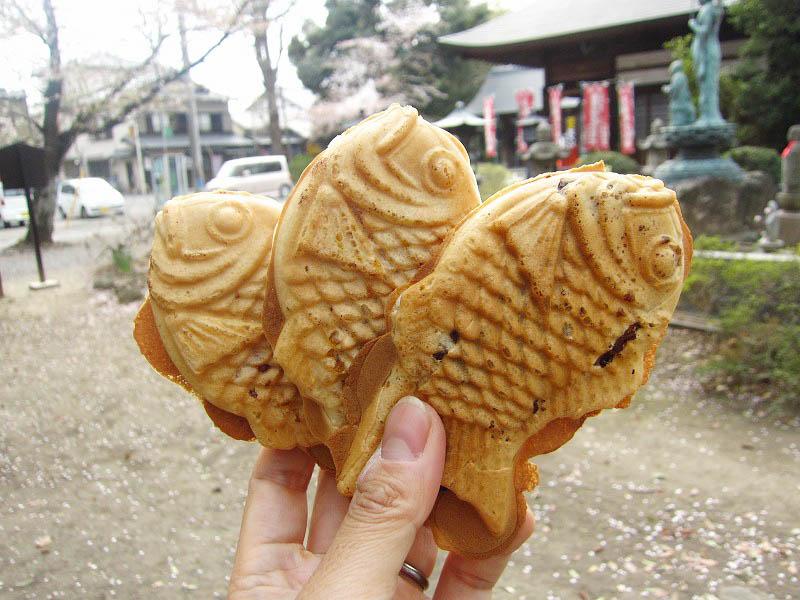 太田市末広町「薄皮たい焼き みずほ」のたい焼き3種