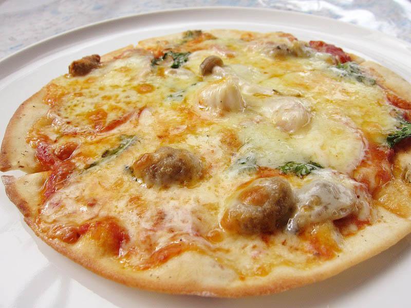 比企郡小川町伊勢根「のこのこ」のピザとパスタのランチ