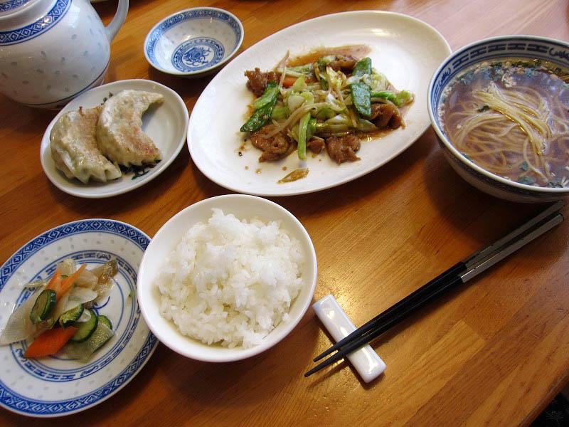 秩父市山田「泰山北斗」のお勧めランチセット(豚肉とキャベツの味噌炒め)