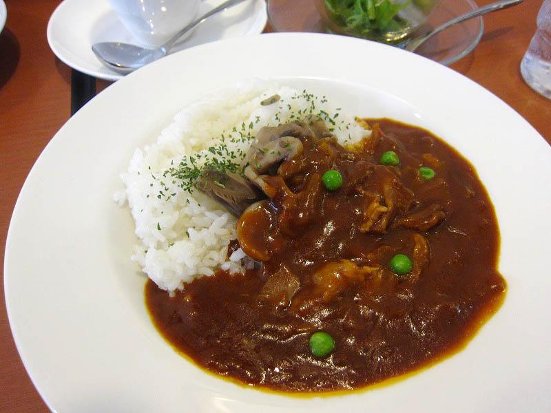 東松山市本町1丁目「ACカフェ」のきのこたっぷりハヤシライスのセット他