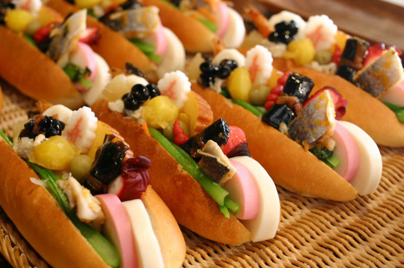 行田市行田「翠玉堂」のおせちパン2014とタイベーグルと麻婆豆腐パンとタルトタタン