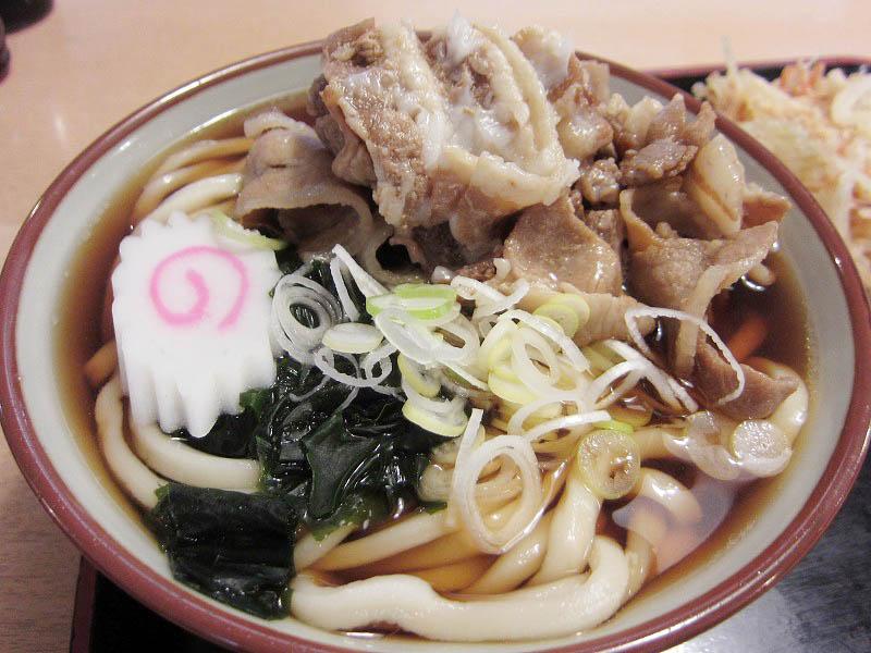 久喜市菖蒲町下栢間「JA南彩食堂」の天ぷら肉うどん
