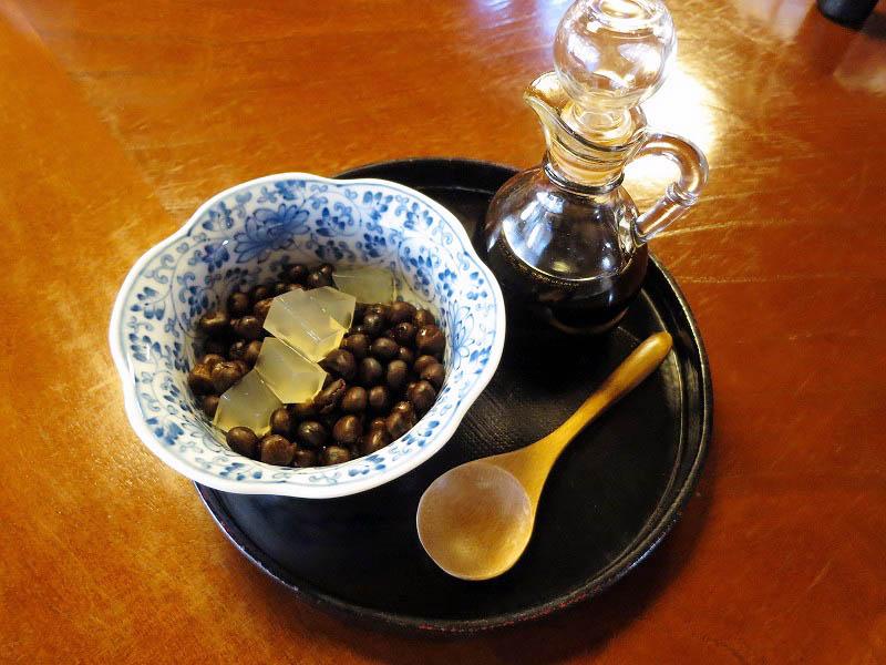 熊谷市妻沼「大福茶屋さわた」の豆かんとみのる寒天