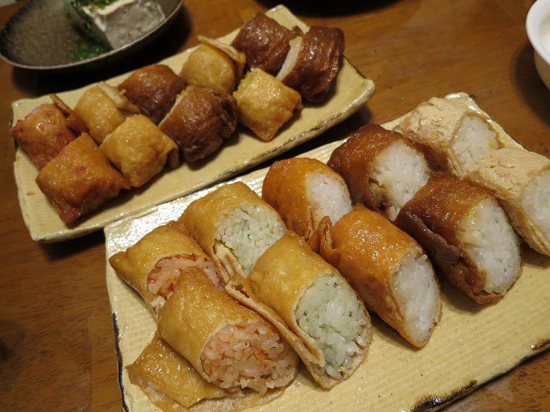 深谷市深谷「富ばあちゃんのいなり本舗」のおいなりさん各種とおからドーナッツと豆腐