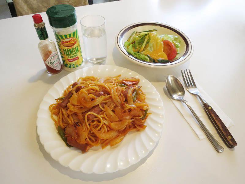羽生市下新郷「コロンバ」のスパゲティーナポリタン