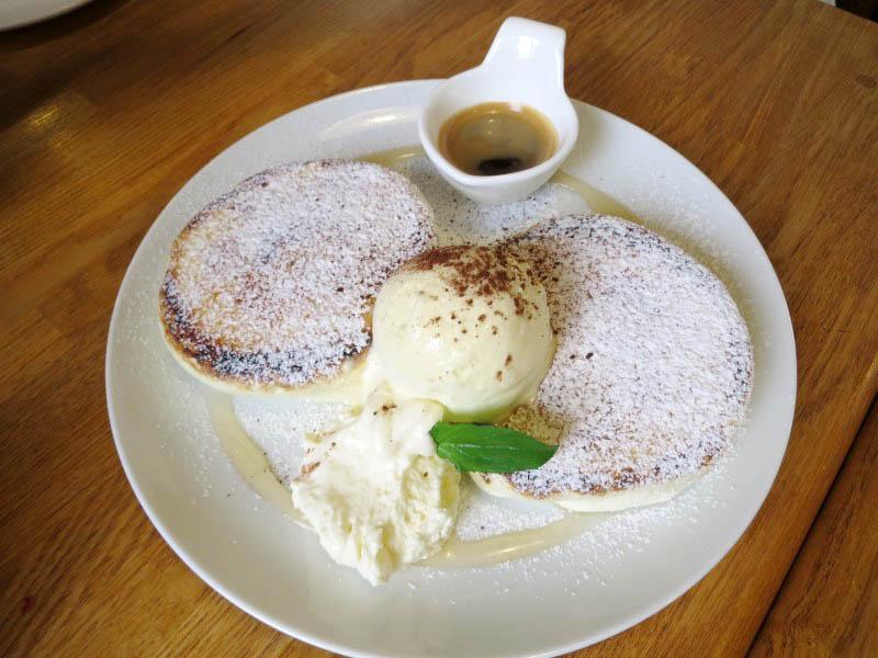吉見町谷口「HappyTime」のエスプレッソのブリュレパンケーキ