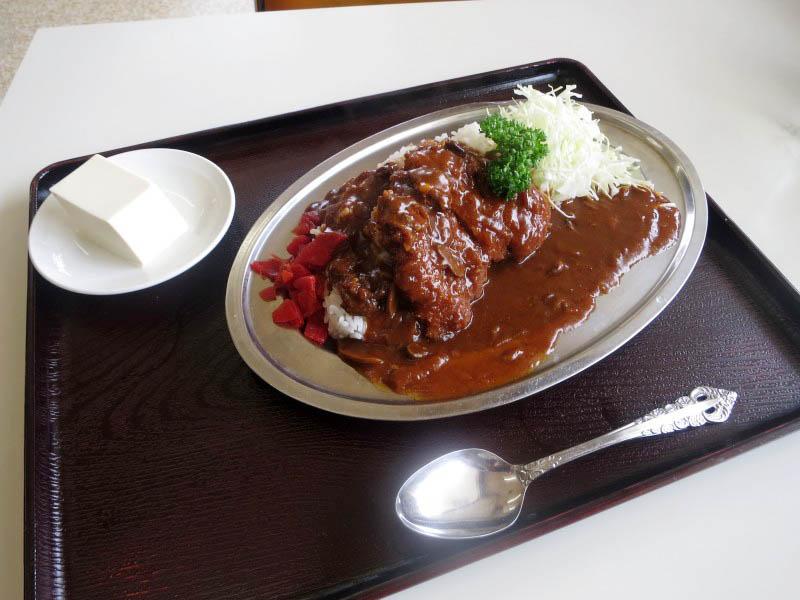 吉見町久保田「みなみ食堂」のカツハヤシ(特注)