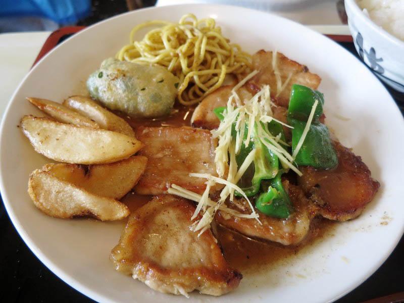 熊谷市押切「美舟」のロース生姜焼き定食