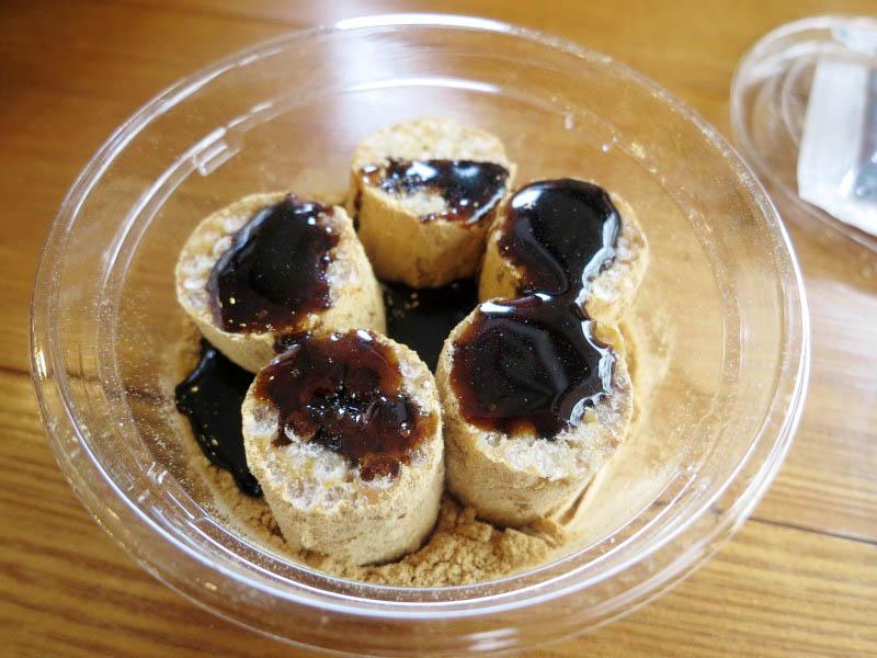 熊谷市榎町「花堤」の黒蜜で食べる五家宝