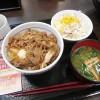 行田市佐間2丁目「なか卯 行田佐間店」の和風牛丼とサラダセット
