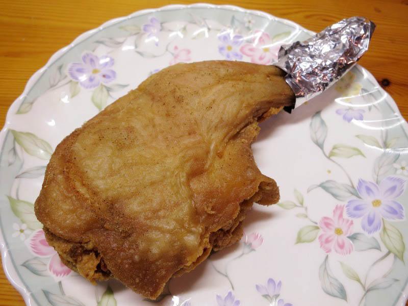 熊谷市新堀「のんき屋肉店」の鳥もも骨付きとチキンカツ他