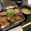 藤岡市藤岡「炭豚亭」の味噌豚重(特盛り)
