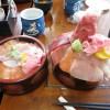 東松山市松山「竹寿司」の三色丼 2倍盛