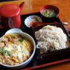 熊谷市石原「そば処 詩菜野」の親子丼のセット
