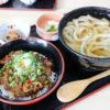 寄居町大字末野「元六庵」の牛のやわらかカルビ焼肉丼&小うどん(大盛り)