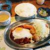 熊谷市銀座1丁目「1968食堂」の1968ハンバーグ定食としらす小鉢