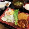 群馬県多野郡上野村勝山「道の駅 上野」の猪豚メンチ定食といのぶた醤油ラーメン餃子セット