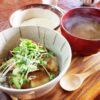 熊谷市妻沼「大福茶屋さわた」のザ!!男前とろろと豚の角煮丼