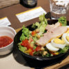 熊谷市久保島おふろcafe BIVOUAC内「cafe&bar okibi」のモーニング サラダごはん