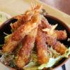東北道下り Pasar羽生内「よ~いDON」のメガ海老フライ丼